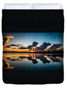 Sunset On Little Pine Lake Duvet Cover