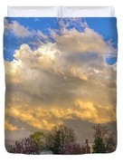 Sunset On Mixed Clouds Duvet Cover