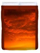 Orange Cloud Sunset Duvet Cover