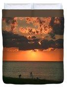 Sunset On Race Point Beach Duvet Cover