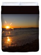Sunset On Sunset Beach Duvet Cover
