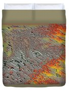 Sunset On The Beach Sand Duvet Cover