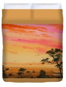 Sunset On The Coast Duvet Cover by James Williamson