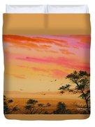 Sunset On The Coast Duvet Cover