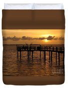 Sunset On The Dock Duvet Cover