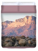 Sunset On The Guadalupe Mountains Duvet Cover