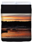 Sunset On The Harbor Duvet Cover