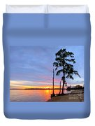 Sunset On The James River Duvet Cover