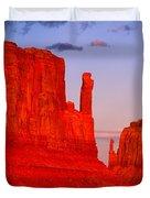 Sunset On The Mittens Duvet Cover