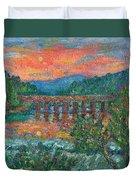 Sunset On The New River Duvet Cover by Kendall Kessler