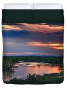Sunset On The Payette  River Duvet Cover