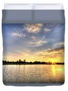 Sunset On The Pond Duvet Cover