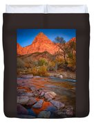 Sunset On The River Duvet Cover