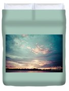 Sunset On The River In The Peruvian Amazon Jungle Duvet Cover