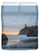 Sunset On The Rocks Duvet Cover