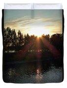 Sunset On The Volga River Duvet Cover