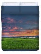 Sunset On The Wando Duvet Cover