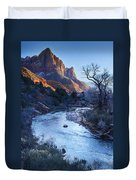 Sunset On The Watchman Duvet Cover