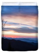 Sunset On Water Rock Knob Blue Ridge Parkway Scenic Photo Duvet Cover