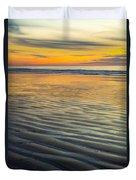 Sunset On Wet Sandy Beach Seascape Fine Art Photography Print  Duvet Cover