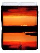 Sunset On Whitefish Lake Norhwest Territories Canada Duvet Cover