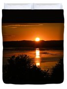 Sunset On Winnesheik Duvet Cover