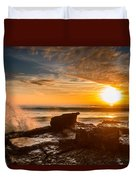 Sunset Over A Rough Sea I Duvet Cover