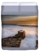 Sunset Over A Rough Sea II Duvet Cover