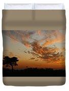Sunset Over Blueberry Field Duvet Cover