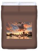 Sunset Over Buckingham Fountain Duvet Cover