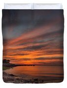 Sunset Over Buzzards Bay Duvet Cover