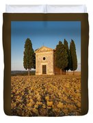 Sunset Over Cappella Di Vitaleta Duvet Cover