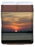 Sunset Over Charleston Harbor Duvet Cover