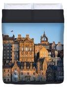 Sunset Over Edinburgh Duvet Cover
