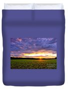 Sunset Over Farmland Duvet Cover