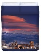 Sunset Over Granada And The Cathedral Duvet Cover