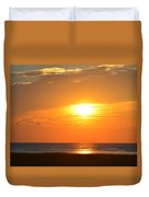 Sunset Over Gray's Beach Yarmouth Cape Cod Duvet Cover