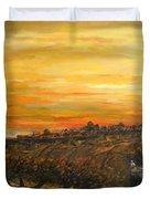 Sunset Over Jerusalem Duvet Cover
