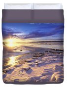 Sunset Over Knik Arm & Six Mile Creek Duvet Cover