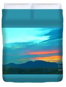 Sunset Over Las Vegas Hills Duvet Cover