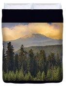 Sunset Over Mount St Helens Duvet Cover