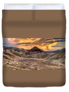 Sunset Over Painted Hills In Oregon Duvet Cover
