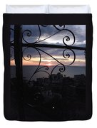 Sunset Over Puerto Vallarta Duvet Cover