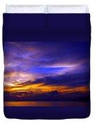 Sunset Over Sea Duvet Cover