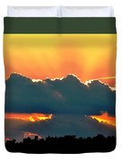 Sunset Over Southern Ohio Duvet Cover