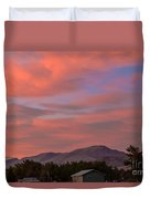 Sunset Over Squaw Butte Duvet Cover