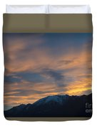 Sunset Over The Alps Duvet Cover