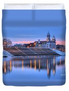 Sunset Over The Clinton County Courthouse Duvet Cover