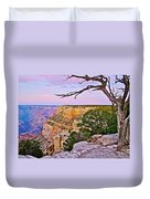 Sunset Over The Grand Canyon From South Rim Trail In Grand Canyon National Park-arizona   Duvet Cover