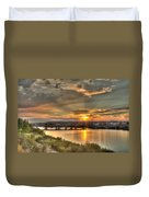 Sunset Over The Great Falls Duvet Cover